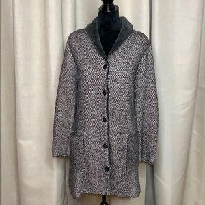 J JILL coatigan lined with fleece
